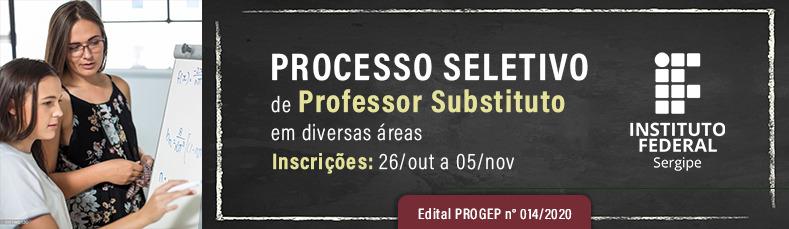 Processo seletivo para contratação de professor substituto - Diversas áreas