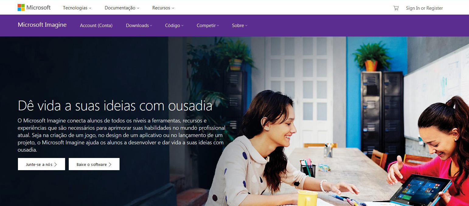 Parcerias Educacionais Microsoft DreamSpark ou Microsoft Imagine Briefing para site Imagem 02